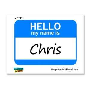 Hello My Name Is Chris   Window Bumper Laptop Sticker