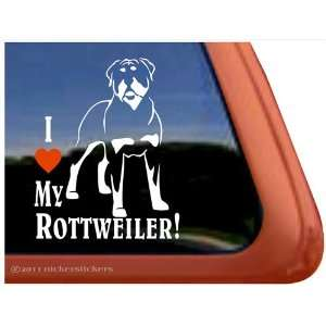 I Love My Rottweiler Vinyl Window Dog Decal Sticker
