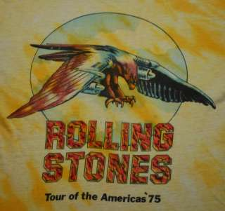 VTG ROLLING STONES TOUR OF THE AMERICAS SHIRT 1975 L