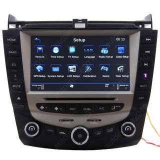 Honda Accord 2003 2007 8 Car GPS Radio DVD Player