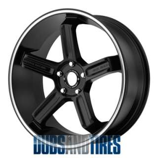 New 18 Inch Motegi MR122 Wheels SATIN BLACK Rims 5x4.5 ET35