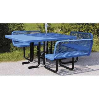 ADA Compliant Commercial Grade Picnic Table with Attached Bench Seats