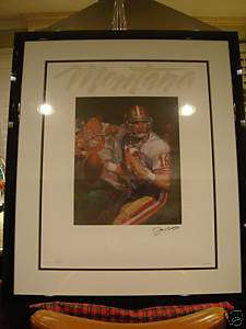 Rice Ronnie Lot San Francisco 49ers Signed Framed Lithographs